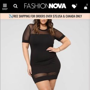 Fashion Nova Black Mini Dress Plus Size (x3)